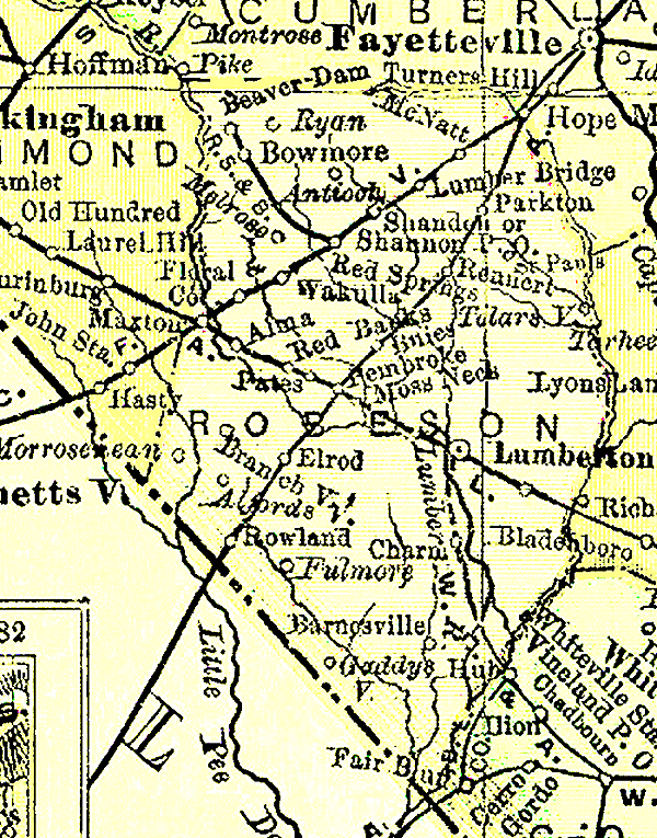 Robeson County Map 1895